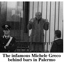 Michele Greco in captivity.