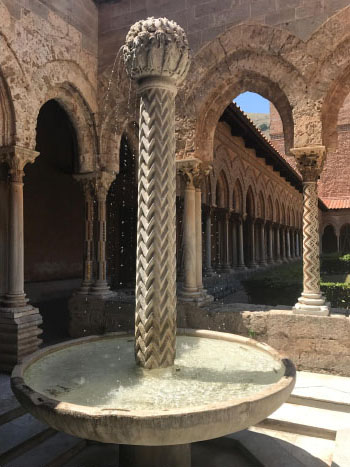 Fatimid fountain in Monreale